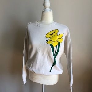 Vintage Daffodil Flower Sweatshirt